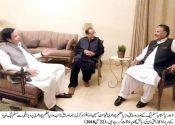 Ijaz ul Haq calls on Ch Brothers