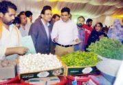Caretaker Minister Information Ahmed Waqas visit to Ramzan Bazars