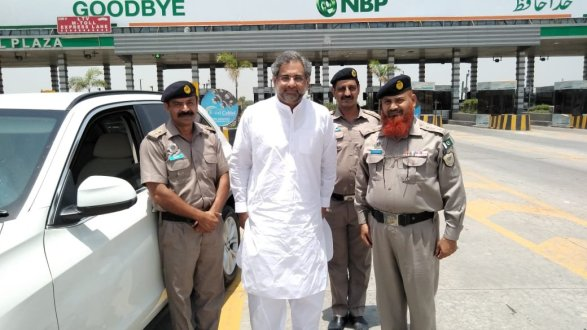 Motorways police give ticket to former prime minister Abbasi