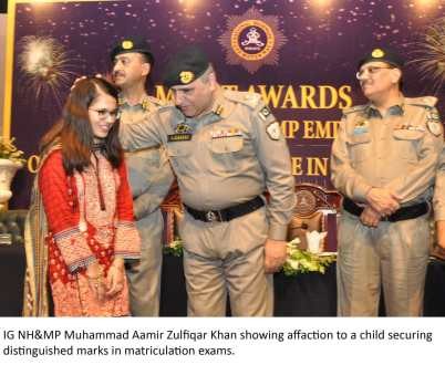 Motorways police honour brilliant students of the family