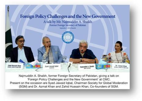Pakistan must hold talks with India : Najamuddin Shaikh