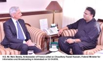 French Ambassador calls on Minister info Fawad Ch