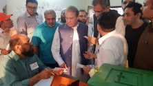 Nawaz Sharif disallowed to cast his vote