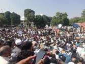 Utility Stores employees give sit in at D-Chowk Islamabad