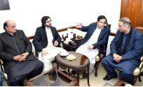 Aleem Khan called on Speaker Punjab Assembly Ch Pervaiz Elahi