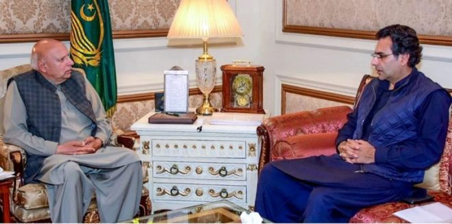 MNA Moonis Elahi calls on Governor Muhammad Sarwar