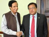 Consul General in Barcelona, Ali Imran Chaudhry call on Speaker Punjab Assembly Ch Pervaiz Elahi
