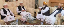 Molana Fazal ur Rehman holds meeting with Siraj ul Haq