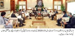 Usman Buzdar reviews budget preparation