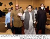 Speaker Ch Pervaiz Elahi review the arrangements for  session at Faletti's Hotel