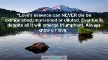 Love's essence can NEVER die...