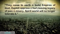 They come to earth…