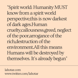 Spirit world: Humanity MUST know...