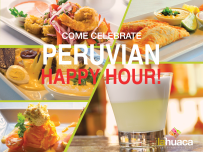 PERUVIAN HAPPY HOUR
