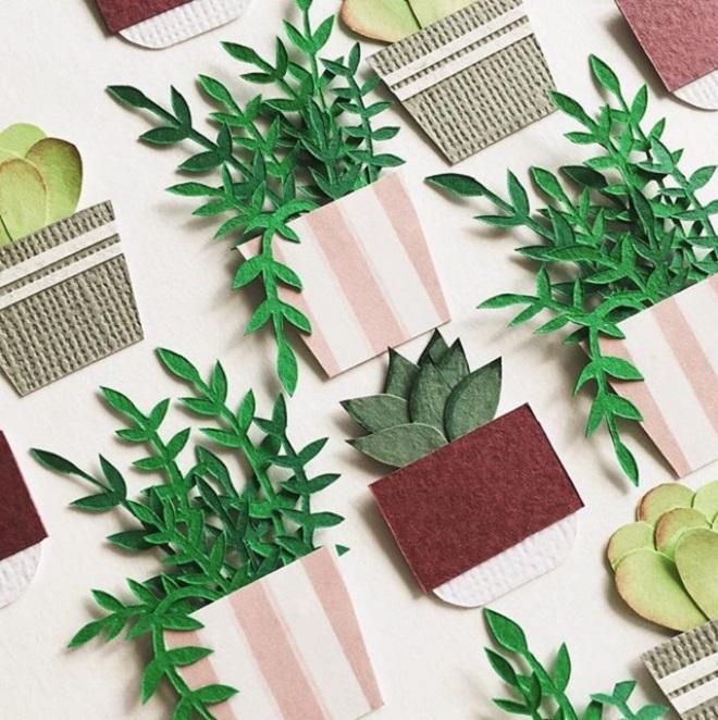 Tania Lissova: plantas en miniatura en papel