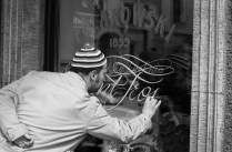 lettering in glass