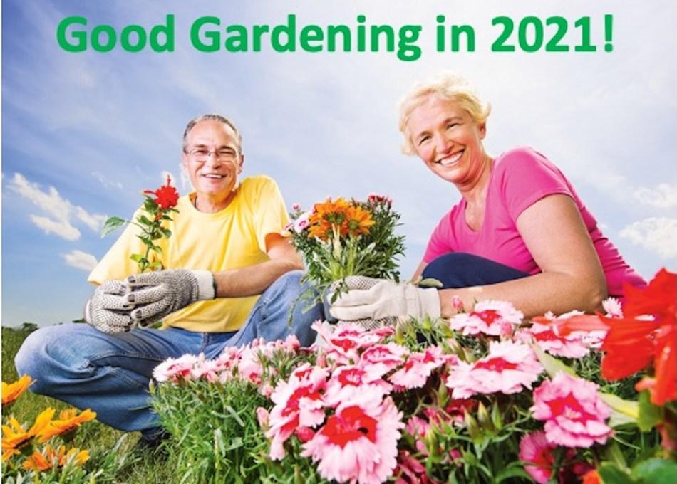 Two smiling gardeners