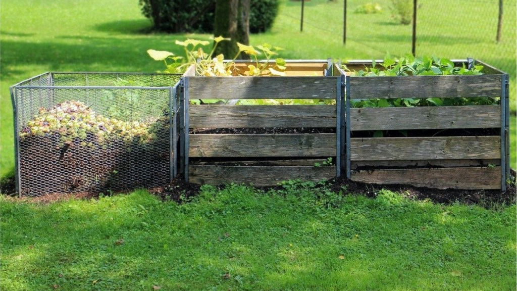 Compost bin with three sections.