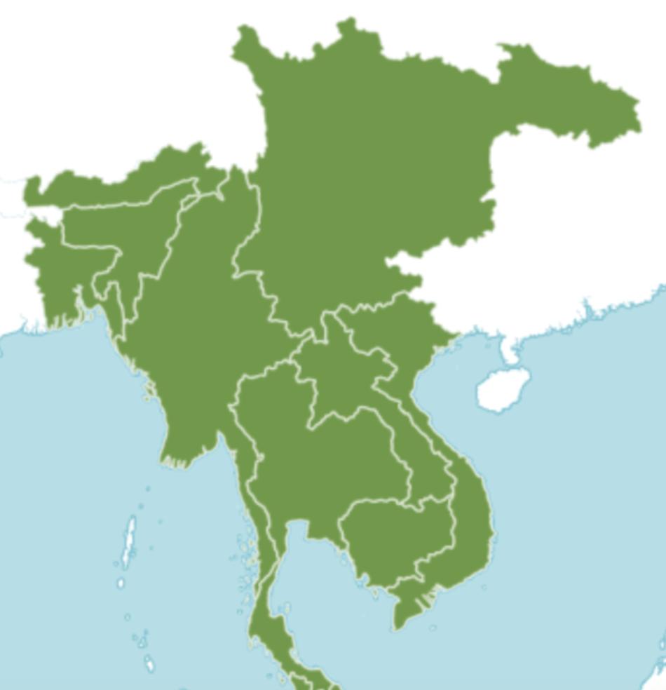 Map showing range of banana-leaf fig .