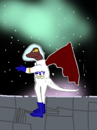 hagedis in de ruimte