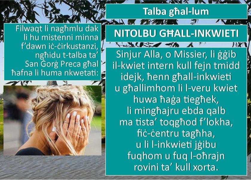 Nitolbu ghall-inkwieti