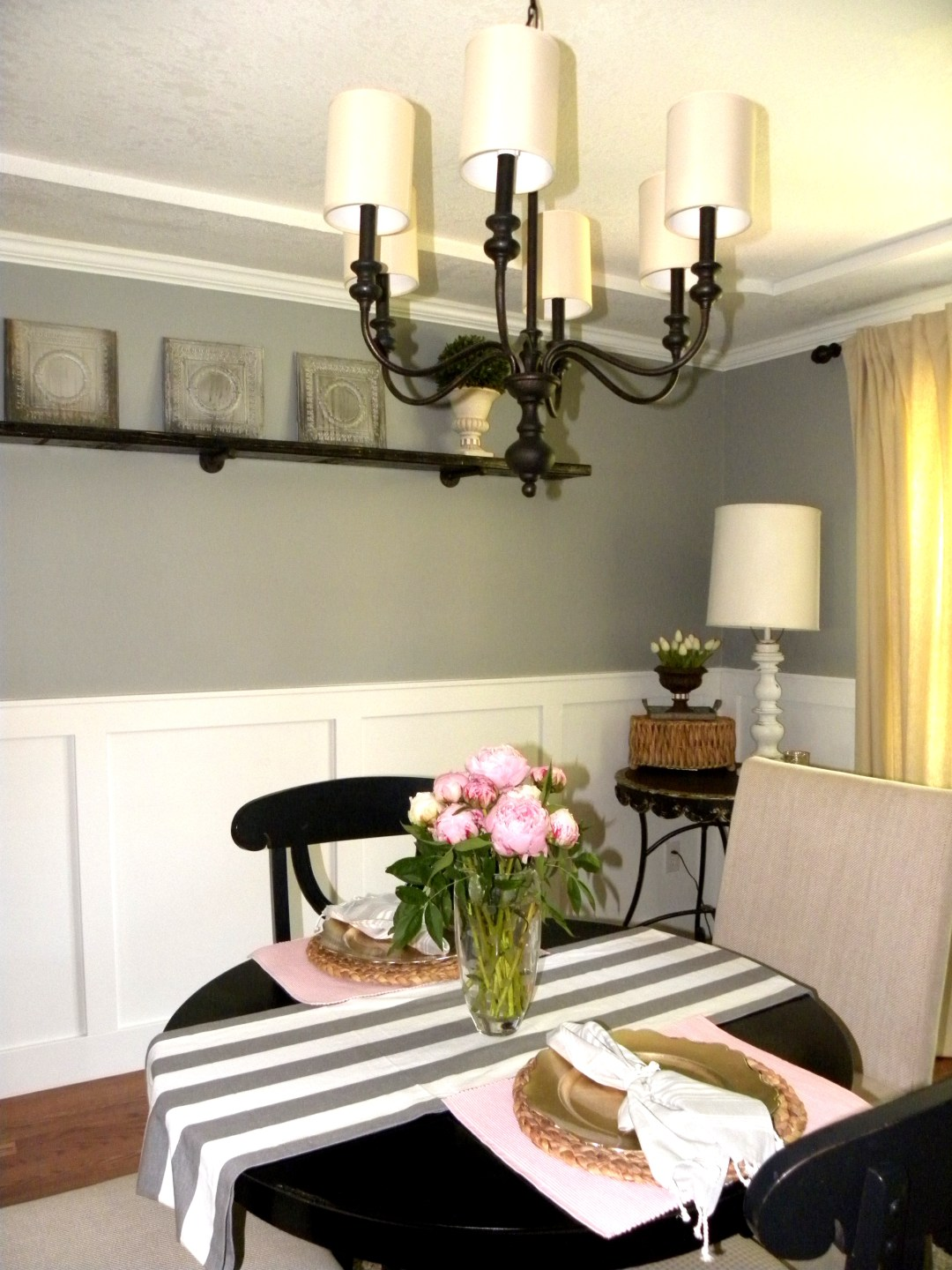 Peonies in Dining Room