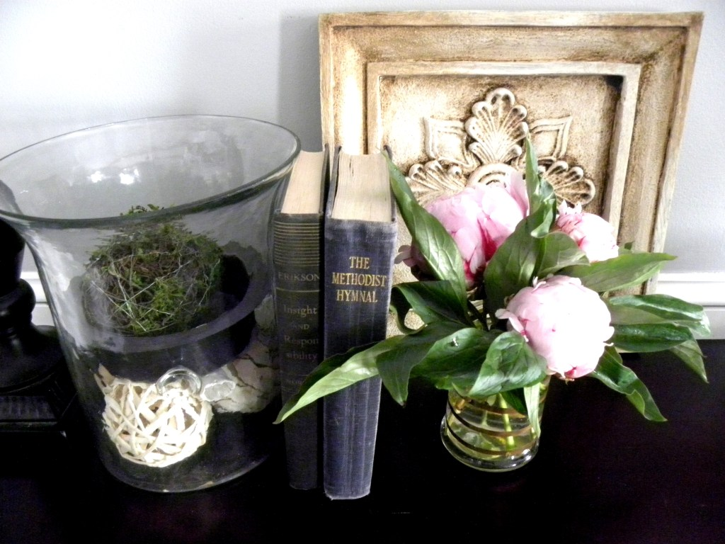 Peonies and Vintage Books