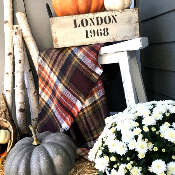 Laila Belles Fall Front Porch - Fall Outdoor Spaces