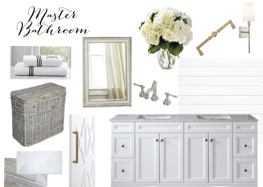 Master Bathroom Design Board