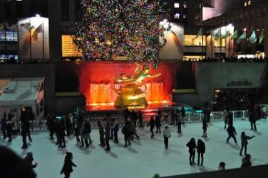 Rockefeller Center e a patinação no gelo