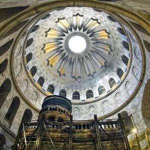 The site of the Church of the Holy Sepulchre in Jerusalem is the place of both of the crucifixion and the tomb of Jesus of Nazareth.
