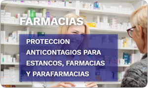 Mampara anticontagios para farmacias y estancos