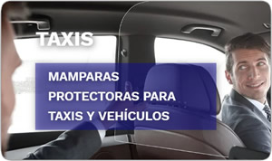 Mampara anticontagios taxis