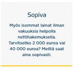 Bigbank – Lainaa 2000-40 000 euroa ilman vakuuksia