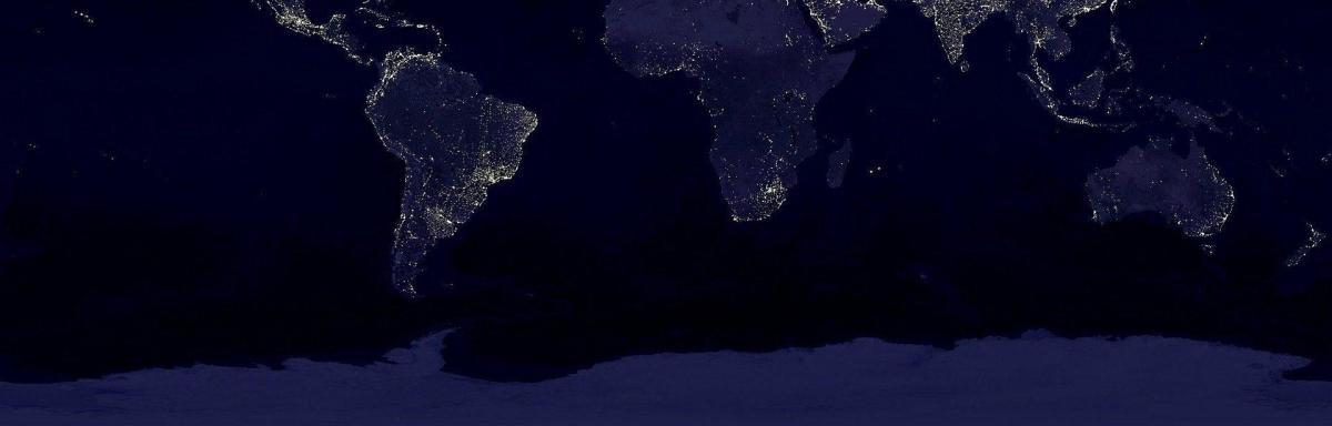 foto mundo noche mapa
