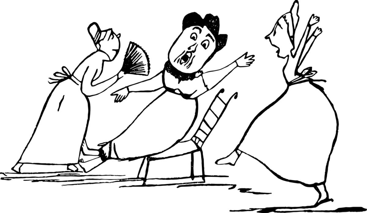 histeria mujeres dibujo