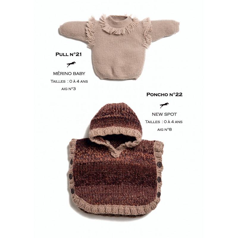 Tricoter Un Poncho Du 2 Ans : tricoter, poncho, Modèle, Poncho, Cb25-22, Patron, Tricot, Gratuit, Cheval, Blanc