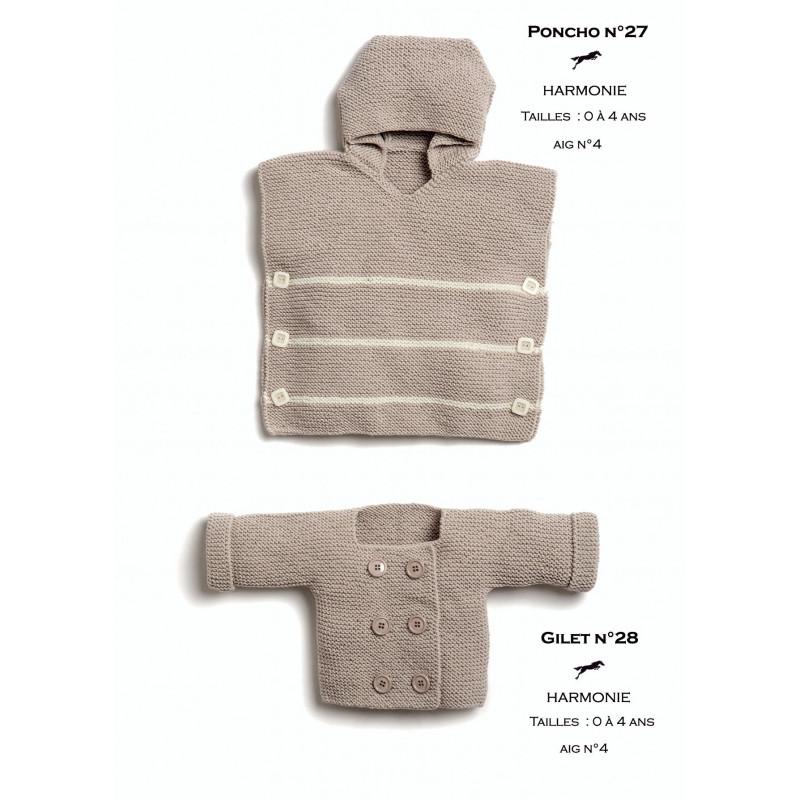 Tricoter Un Poncho Du 2 Ans : tricoter, poncho, Modèle, Poncho, Patron, Tricot, Cheval, Blanc