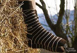 Laines Paysannes Boutique Chaussettes bicolores tons foncés