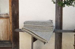 Plaids pure laine française tissés main