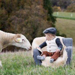 Peau d'agneau lainée locale