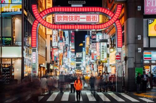 Leuchtreklamen Fußgänger Shinjuku Tokyo Japan Tipps Fotoreisen