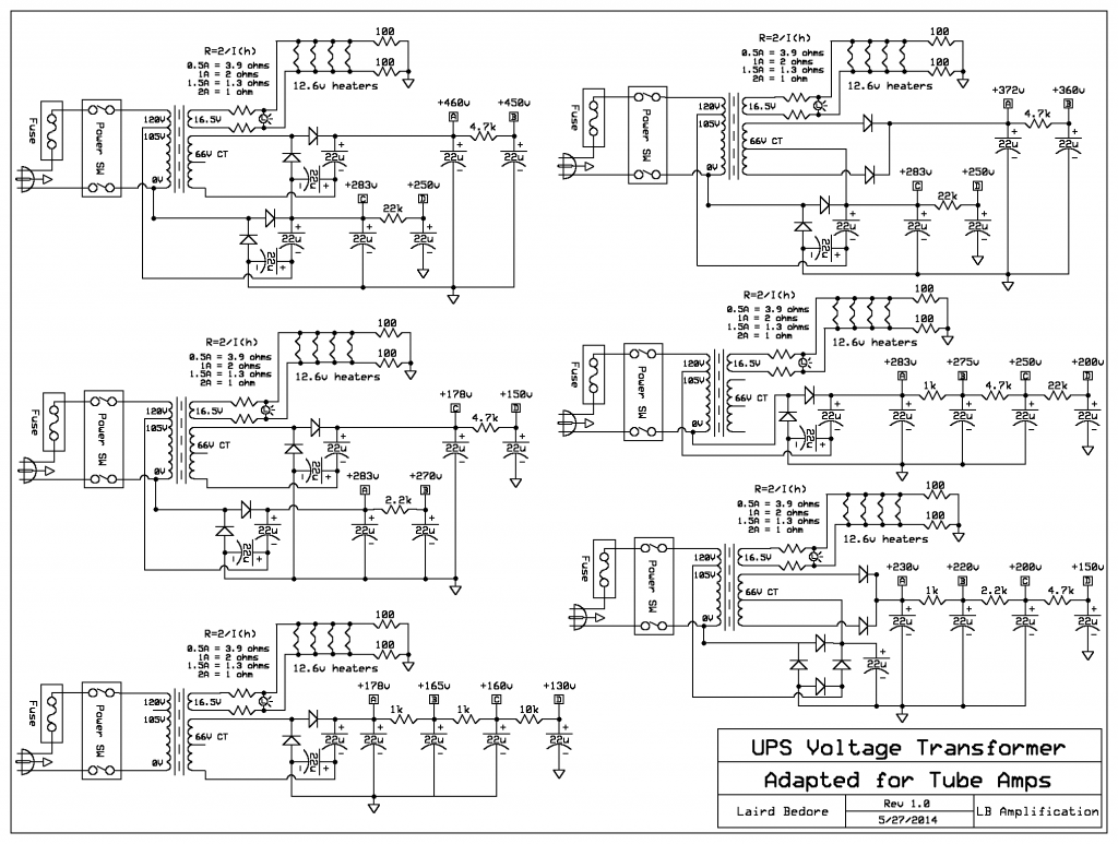 hight resolution of using ups transformers for tube amp projects circuit diagram