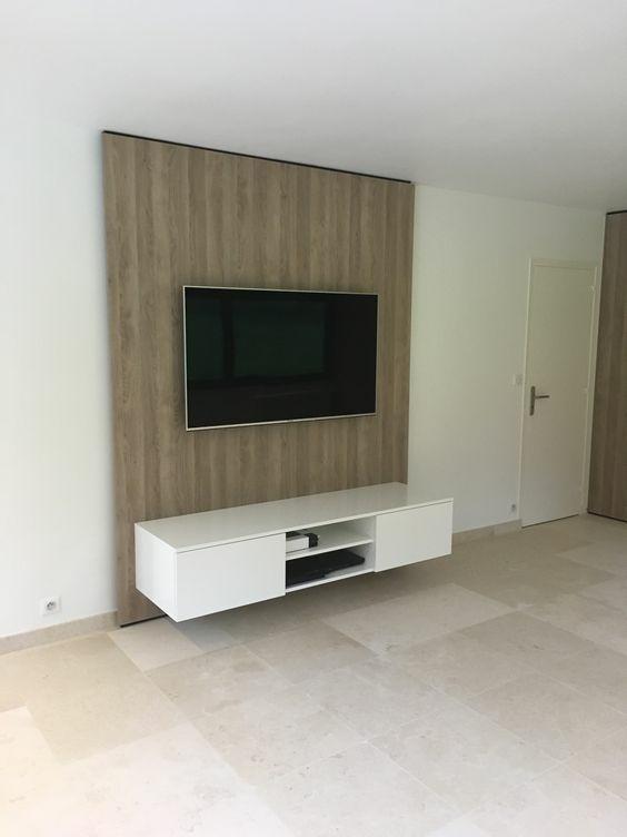 Fixer Tv Au Mur : fixer, Meuble, Suspendu, Panneau, Mural, L'Air