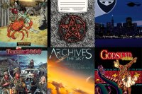 Cover art for six different RPG supplements