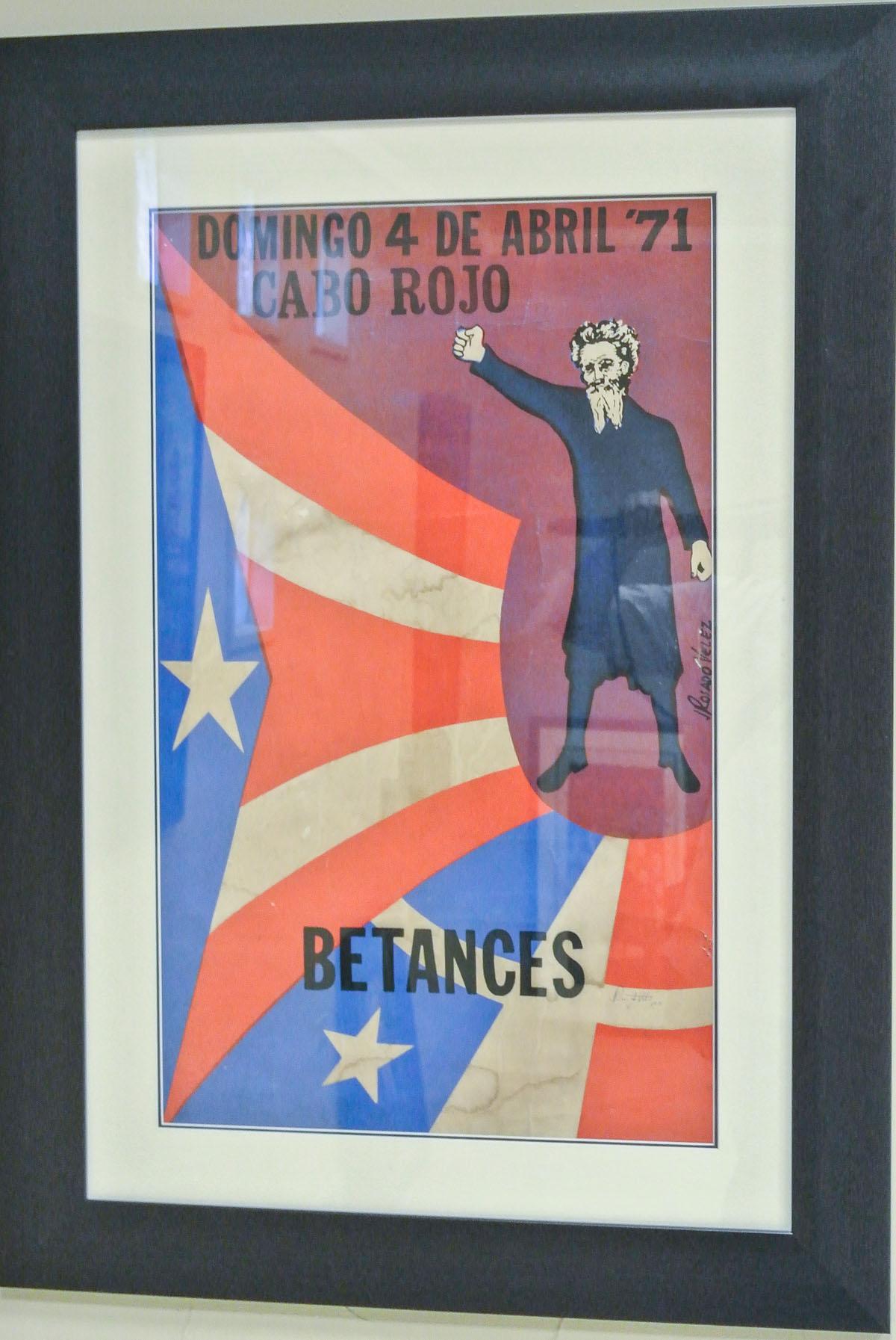 Afiche de Jornada a Betances 1971