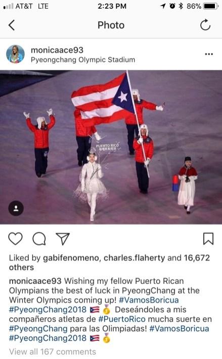 Mensaje de apoyo de Mónica Puig a Charles Flaherty. (Instagram)