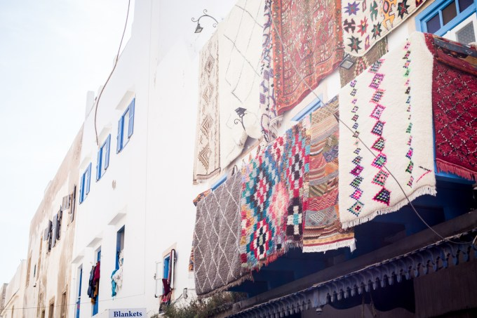 Essaouira - tapis modernes