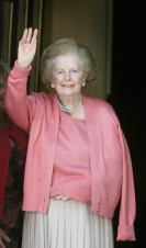 Baroness Margaret Thatcher returns home - London
