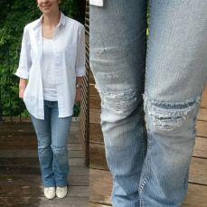 Me Made May 2016, chemise boyish burda et jeans destroy